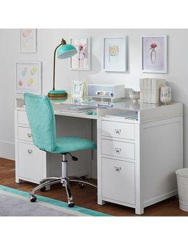 Customize It Acrylic Storage Pedestal Desk by P Bteen