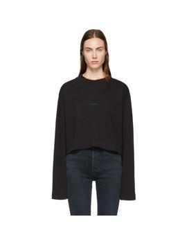 Black Odice Sweatshirt by Acne Studios