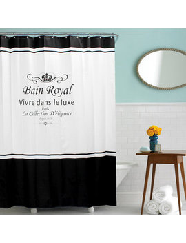 Waterproof And Anti Mould Royal Crown Bathroom Shower Curtain With 12 Hooks by Newchic