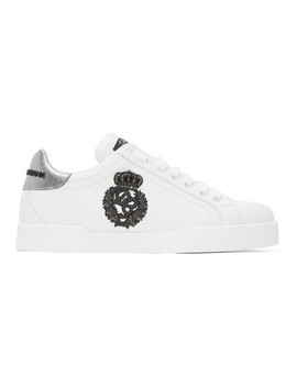 White Crest Sneakers by Dolce & Gabbana