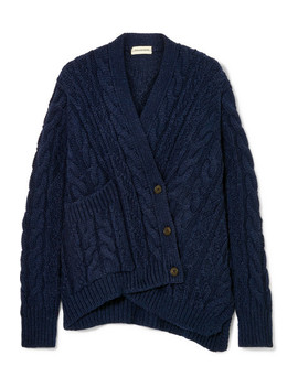 Talanie Asymmetric Cable Knit Cardigan by By Malene Birger
