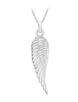 "Tuscany Silver Sterling Silver Simple Angel Wing Pendant On Prince Of Wales Chain Of 46cm/18"" by Tuscany Silver"