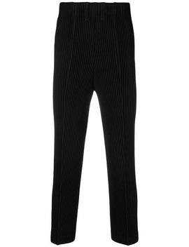 Homme Plissé Issey Miyakepleated Straight Leg Trousers Home Uomo Homme Plissé Issey Miyake Abbigliamento Pantaloni Gamba Dritta & Regular by Homme Plissé Issey Miyake