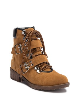 Kendy Faux Suede Combat Bootie by Chase & Chloe