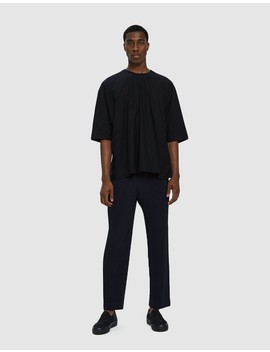 Basic Pants In Navy by Issey Miyake Homme Plissé