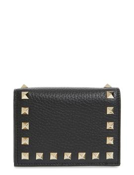 Rockstud Leather French Wallet by Valentino Garavani