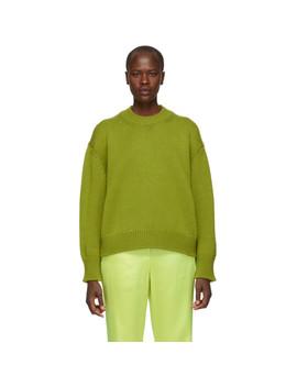 Green Oversized Wool Sweater by Mansur Gavriel
