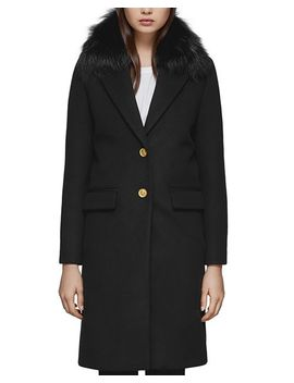 Henrita X Fur Trim Tailored Coat by Mackage