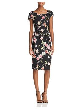 Tiffany Floral Sheath Dress   100 Percents Exclusive by Adrianna Papell