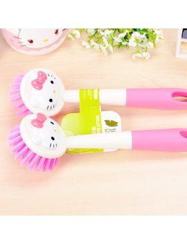 Kitchen Pan Cleaning Brush Multi Purpose Hello Kitty Pot Brush Dishwashing Brush Cleaning Tool D0 by Keythemelife