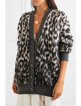 Brushed Jacquard Cardigan by Stella Mc Cartney