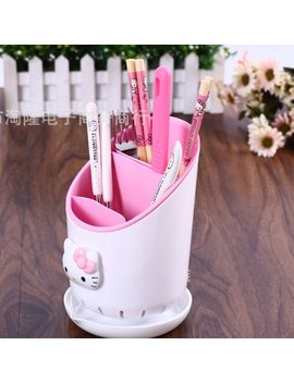 Hello Kitty Tableware Pencil Storage Box Office Organizer Kitchen Tableware Storage Boxes Holder Container Girl's Gifts 2b by Keythemelife