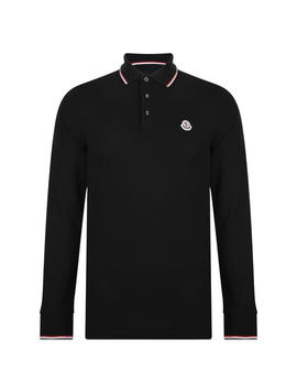 Long Sleeved Logo Polo Shirt by Moncler