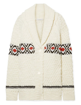 Oversized Intarsia Wool Cardigan by Philosophy Di Lorenzo Serafini