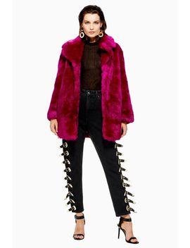 Luxe Faux Fur Coat by Topshop