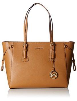 Michael By Michael Kors Voyager Acorn Leather Medium Top Zip Tote Bag by Michael Kors