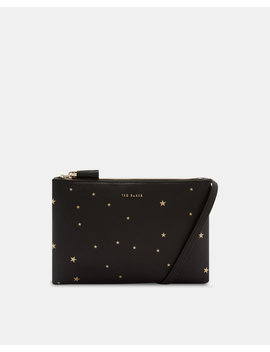 Star Embossed Leather Cross Body Bag by Ted Baker