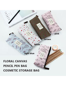 Girls Floral Pencil Pen Bag Cosmetic Makeup Storage Bag Women Case Purse Gift by Unbranded