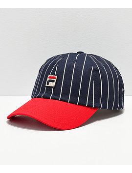Fila Heritage Red & Navy Pinstripe Snapback Hat by Fila