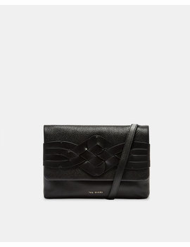 Braid Detail Leather Cross Body Bag by Ted Baker