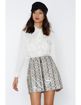 Heart Snake R Mini Skirt by Nasty Gal