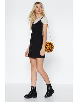 Denim Button Through Mini Dress by Nasty Gal