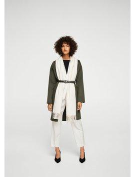 Belt Handmade Coat by Mango