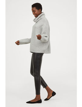 Leggings I Imiteret Læder by H&M