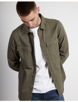 Button Overshirt Green by The Idle Man