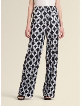 Batik Print Jersey Wide Leg Pant by Donna Karan