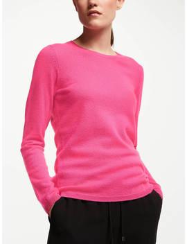 John Lewis & Partners Cashmere Crew Neck Sweater, Raspberry by John Lewis & Partners