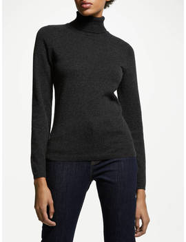 John Lewis & Partners Cashmere Roll Neck Jumper, Charcoal by John Lewis & Partners