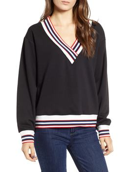Kristine Stripe Trim Sweatshirt by Rebecca Minkoff
