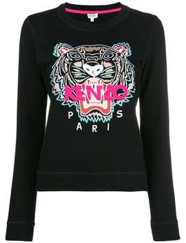Kenzo Tiger Sweatshirthome Women Kenzo Clothing Sweaters White Maia 100 Leather Ankle Boots Tiger Sweatshirt by Kenzo