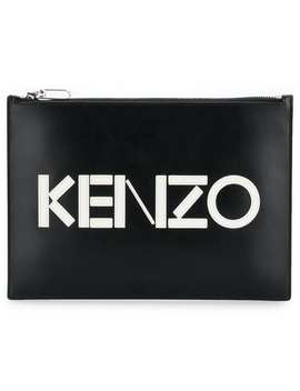 Kenzofront Logo Clutch Bag Home Women Kenzo Bags Clutch Bags Blue Wool Cold Shoulder Jumpersilver Plated Edna Large Hoop Earringshigh Waisted Track Skirt Front Logo Clutch Bag by Kenzo