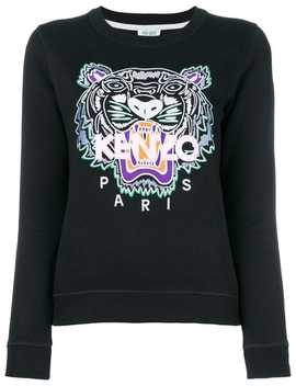 Kenzo Tiger Embroidered Sweatshirthome Women Kenzo Clothing Knitted Sweaters Valentino Garavani 'rockstud' Crossbody Bag Eclypse Sneakers Tiger Embroidered Sweatshirt by Kenzo