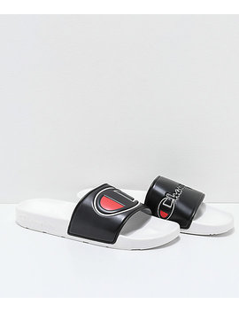 Champion Ipo Black & White Slide Sandals by Champion