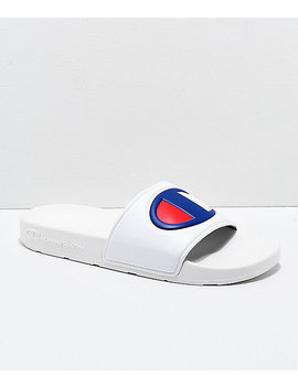 Champion Ipo White Slide Sandals by Champion