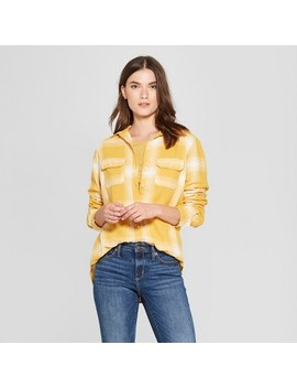 Women's Long Sleeve Flannel Shirt   Universal Thread™ Yellow by Universal Thread™