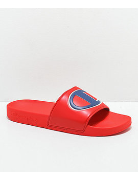 Champion Ipo Red Slide Sandals by Champion