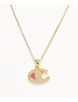 Champion Gold Heritage Pendant Women's Necklace by Champion