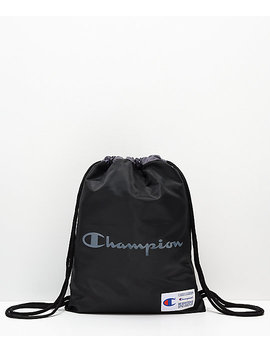 Champion Forever Double Sack Black Gym Cinch Bag by Champion