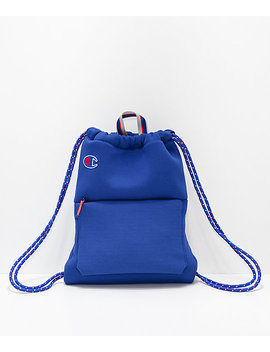 Champion Attribute Blue Gym Cinch Bag by Champion