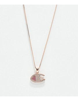 Champion Rose Gold Heritage Pendant Women's Necklace by Champion
