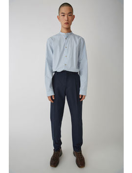 Tapered Leg Trousers Dark Blue by Acne Studios