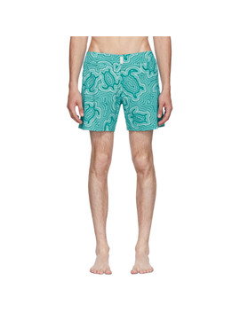 Blue Merise 'tortue Hypnotoques' Swim Shorts by Vilebrequin