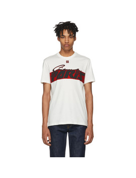 White Motocross Print T Shirt by Givenchy