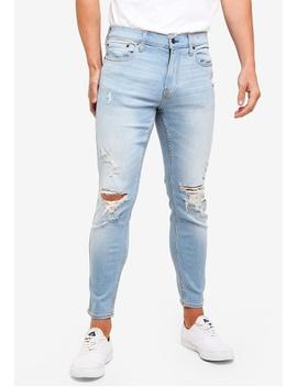 Light Destroy Crop Super Skinny Jeans by Hollister