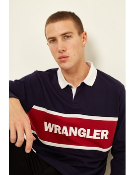 Wrangler Team Polo Top Navy Bright Red by Universal Store