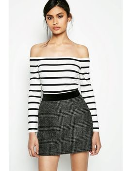 Cheriton Striped Off Shoulder Crop Top by Jack Wills